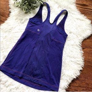 Lululemon purple racer back yoga bra tank top